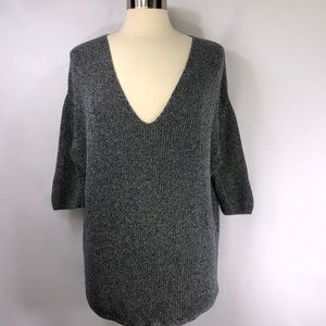Express Oversized Pullover Knit V-Neck Tunic Top S